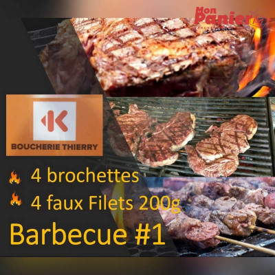 Pack Barbecue 1 / 4 brochettes - 4 Faux Filets