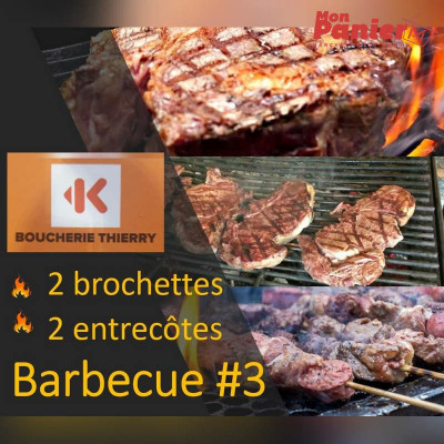 Pack Barbecue 3 / 2 brochettes - 2 entrecôtes
