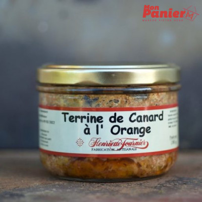 Terrine de Canard à l'orange bocal  180 g